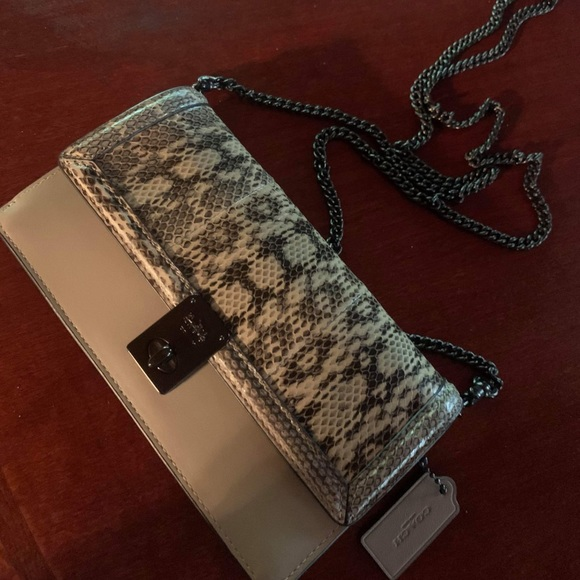 Vintage limited edition python skin coach purse